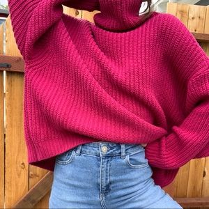 Free People swim too deep oversized pullover knit